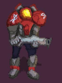 Starcraft Fanart - Terran Marine (Quick Pixel)