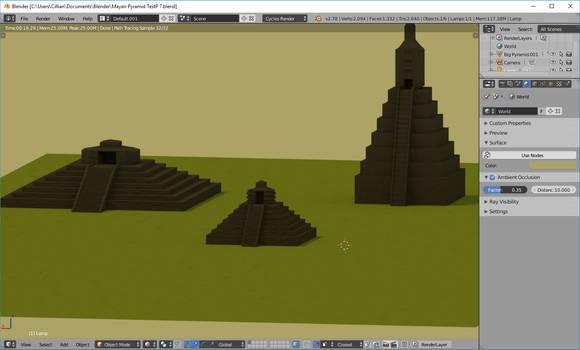 Learning Blender 001: Mayan Pyramids