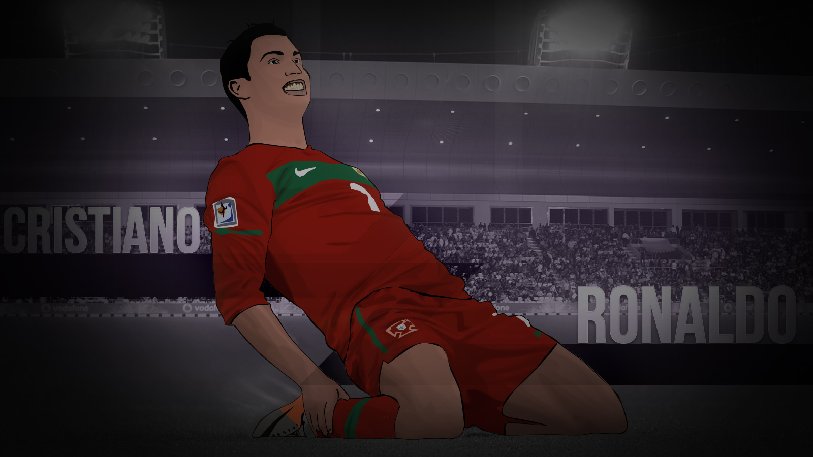 Cristiano Ronaldo Vector Wallpaper by BOArtt