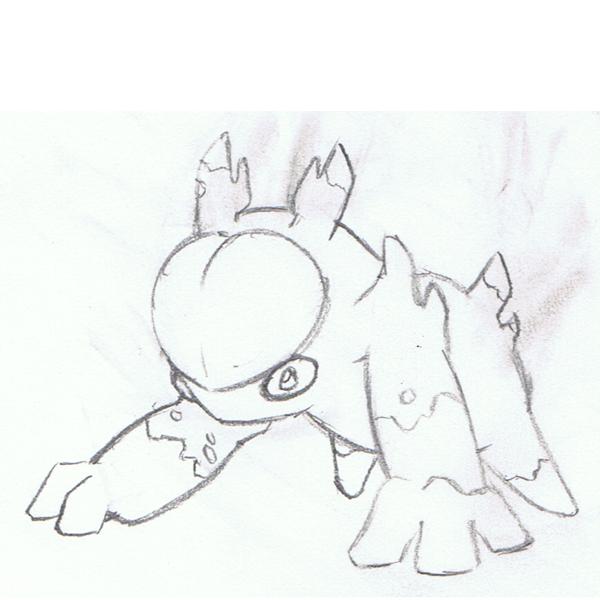 Corsola evo sketch by mssingno