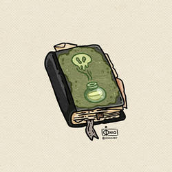 Potions Book Doodle