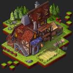 Isometric Game Concept - Guild Exterior