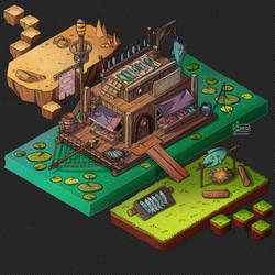 Isometric Game Concept - Travelling Shop