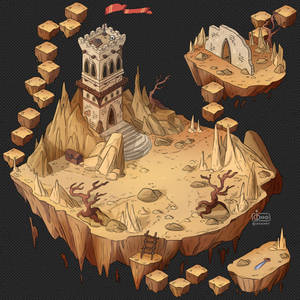 Isometric Game Concept - Sharp Cliffs Valley