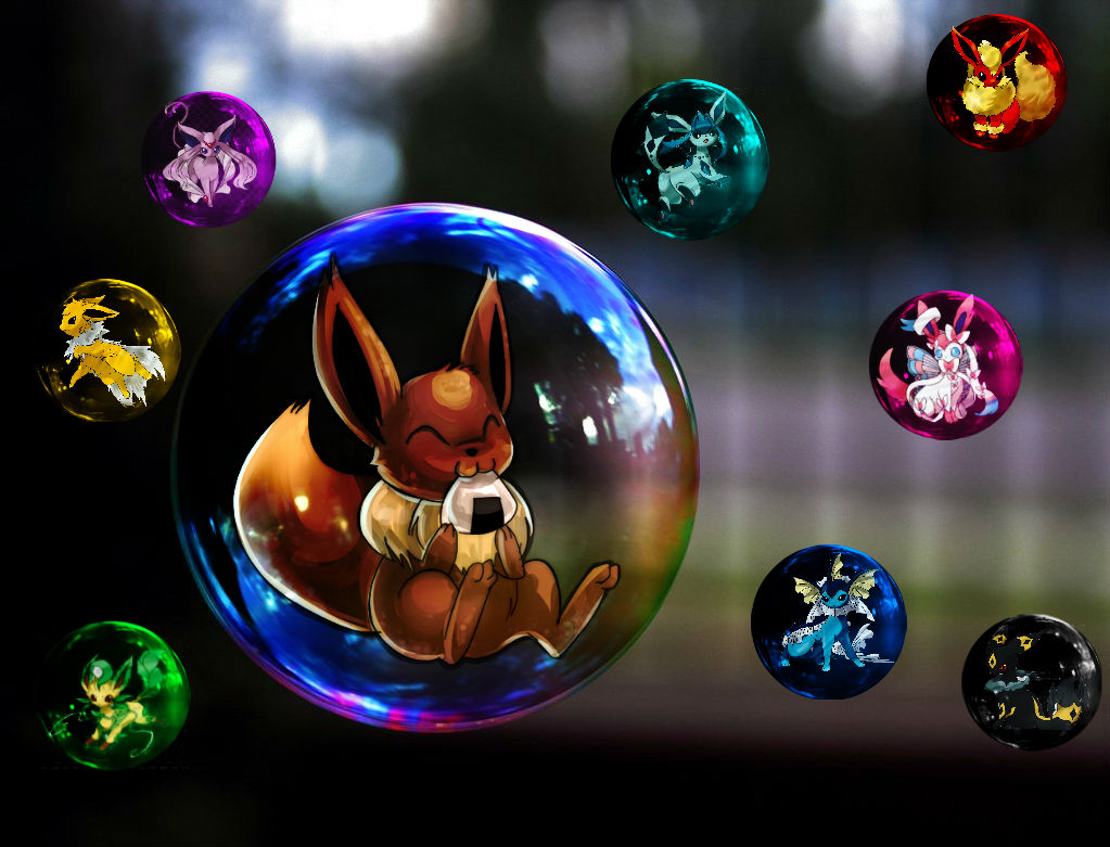 Eevee mega evolution (fan art) by digi-fan111 on DeviantArt