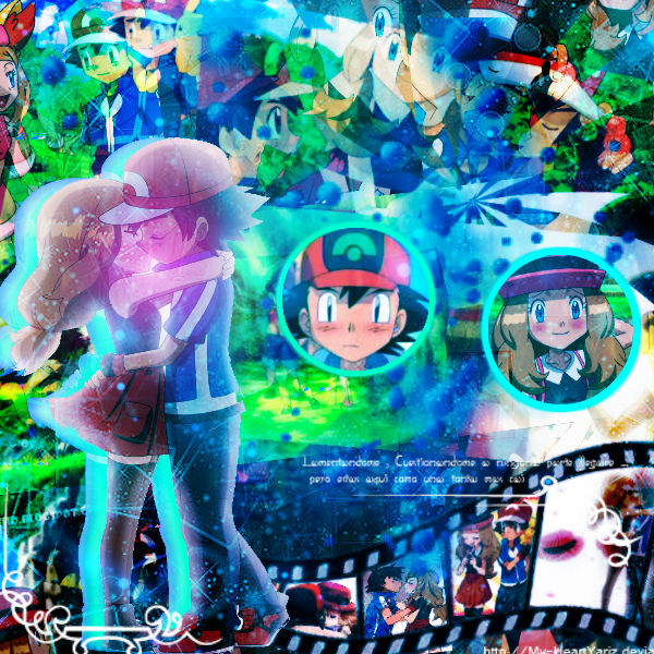 Pokemon XY episode 42 - This is what really happened between them when    Amourshipping Fan Art