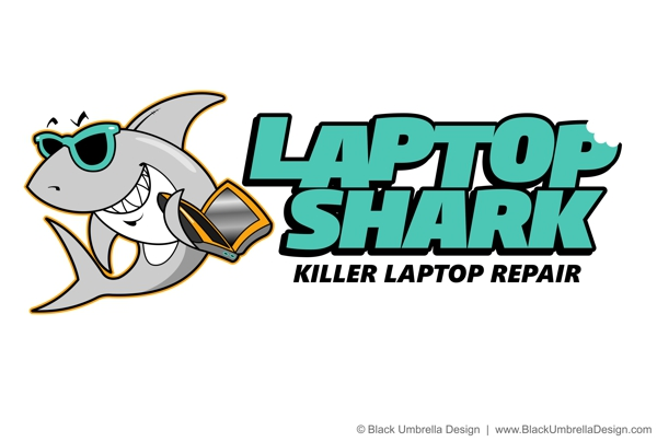 Laptop Shark Logo by MWorrell