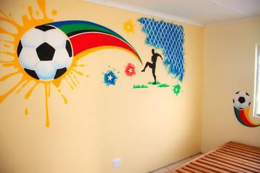 Boy's Room Mural -South Africa by Kyouko-Takara