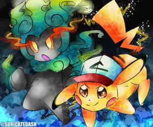 [DOODLE] Pokemon 20th Movie by SuricateDash