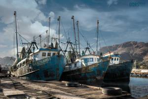 Barcos pesqueros by DorianOrendain