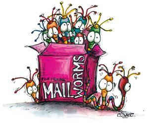 Mailworms by claudz-ART