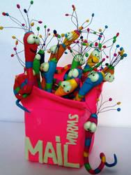 Mailworms II by claudz-ART