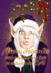 Pixie's Christmas kiss by claudz-ART
