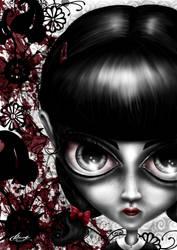 Strange little girl by claudz-ART