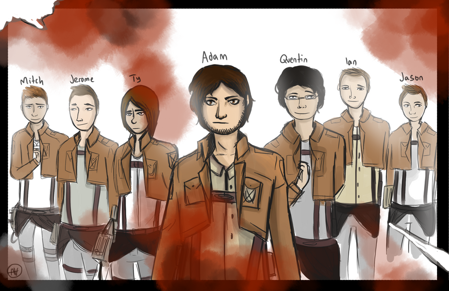 Team crafted: Attack on titan by asheiya