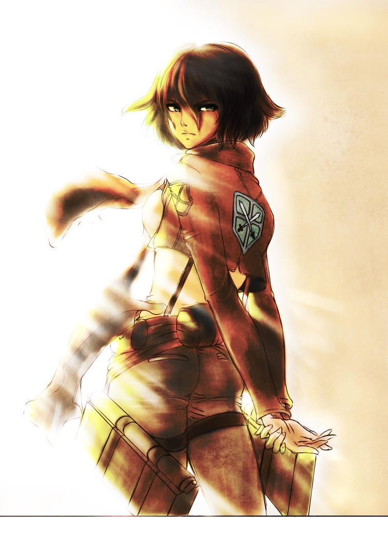 Mikasa.. by thefreedombird