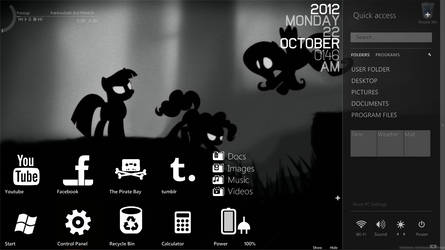 My gloomy desktop