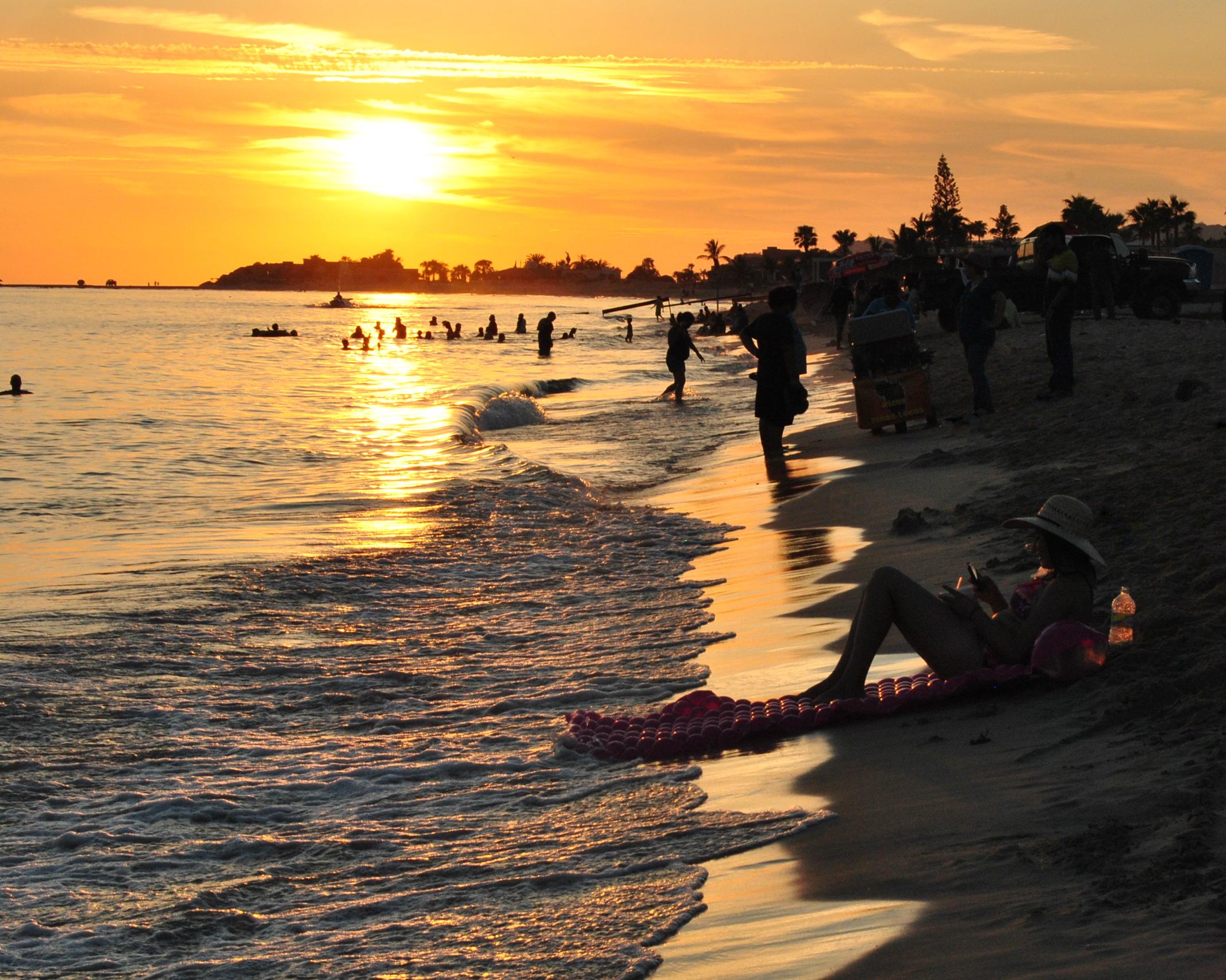 A girl enjoying sunset beach by kgpe95 on DeviantArt