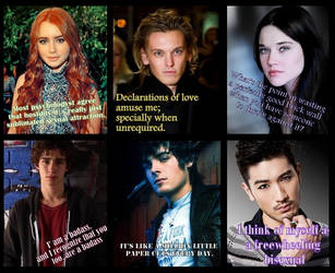 TMI Characters - Cast Quotes by MerielTLA