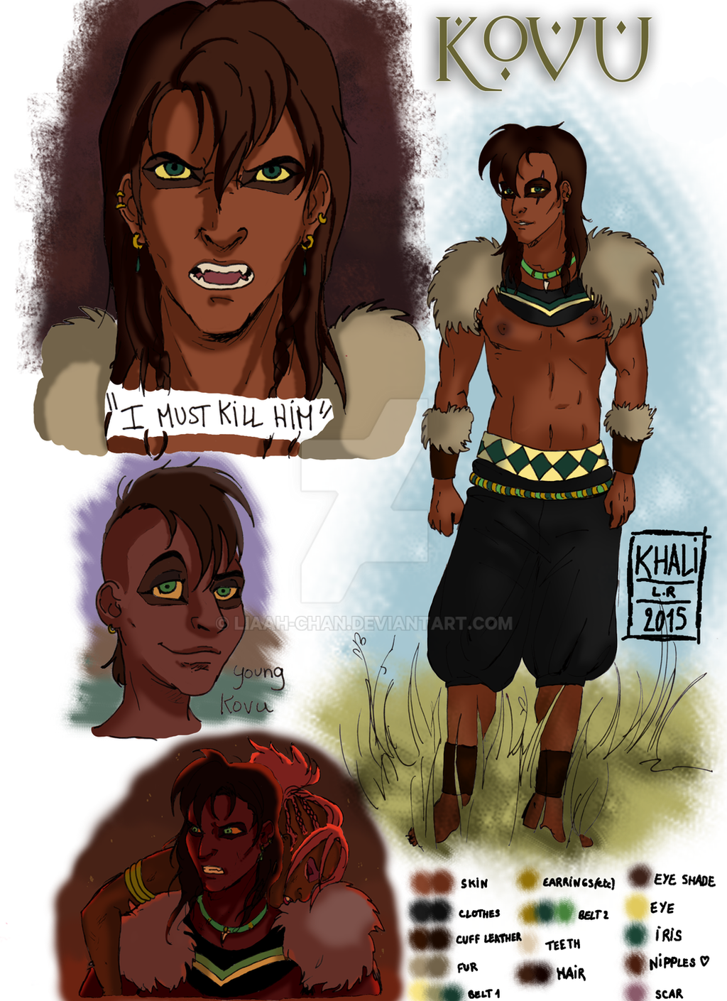 Human Kovu - character design - by Liaah-chan on DeviantArt