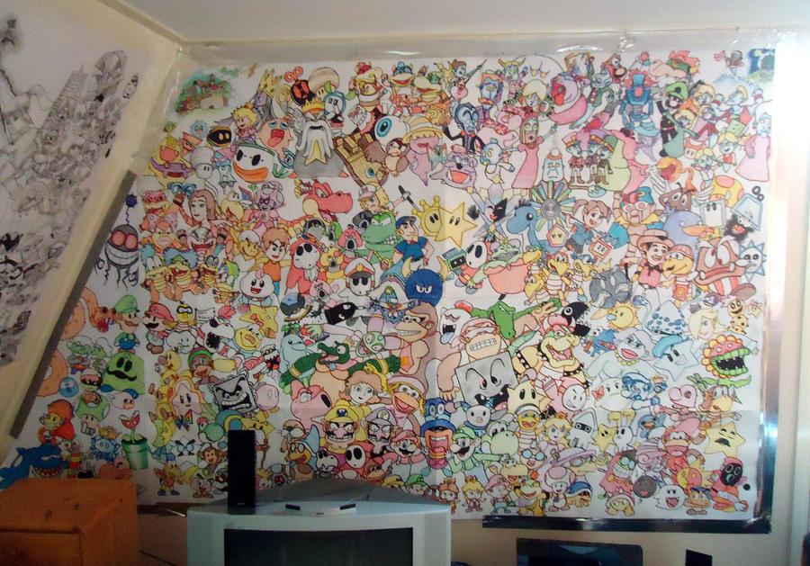 Super Mario Wall Art by BrawlerNiels ... & Super Mario Wall Art by BrawlerNiels on DeviantArt