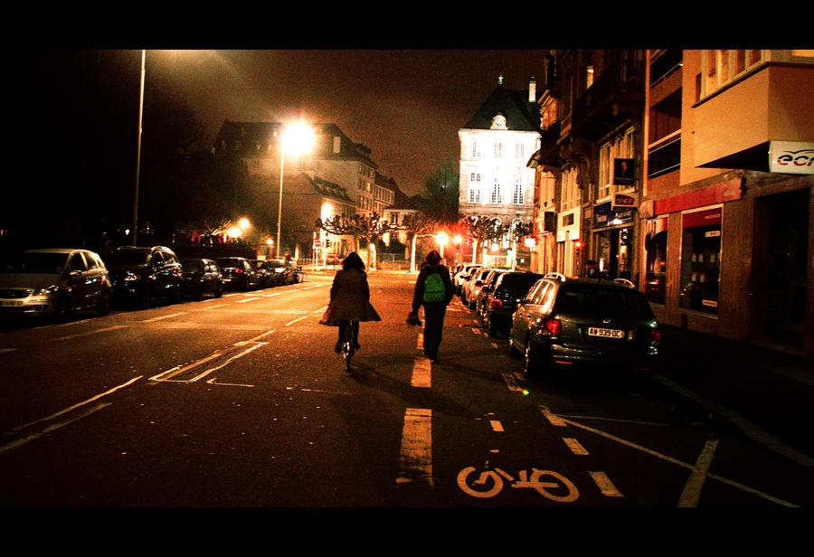Walk in  the night by GabrielRigby