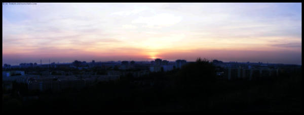 Sunset Panorama by Thrife