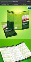 Green Veg Restaurant Tri-fold