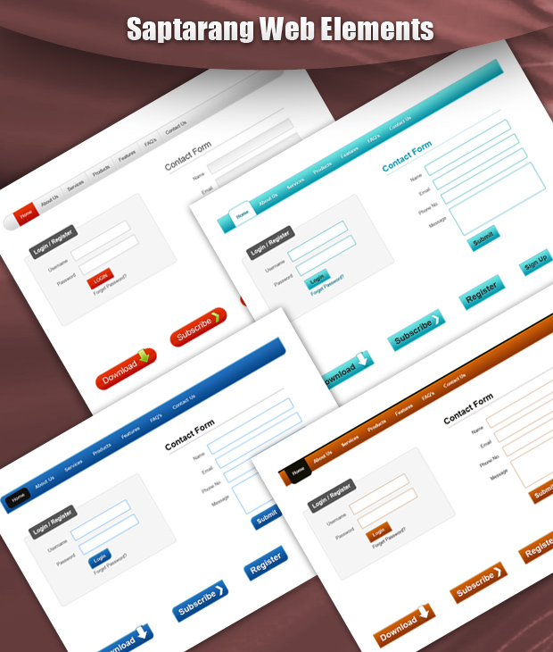 Saptarang Web Elements Pack by Saptarang