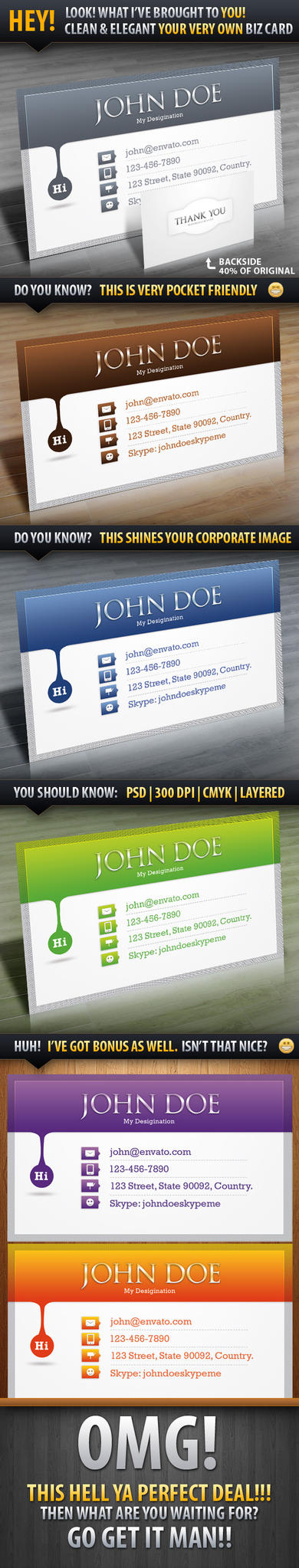 Personal Elegant Business Card by Saptarang
