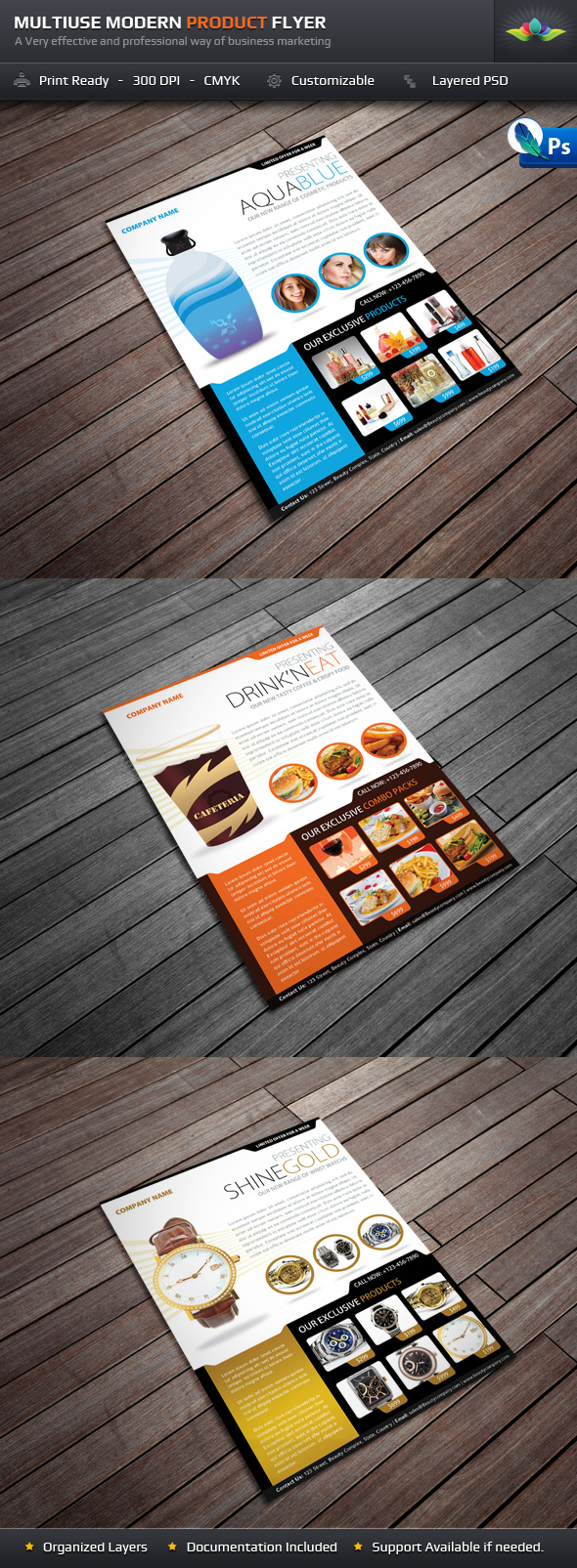 Multiuse Modern Product Flyer by Saptarang