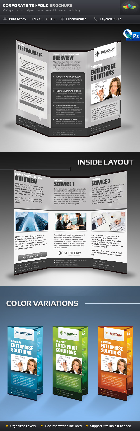 SURYODAY TRI-FOLD BUSINESS BROCHURE by Saptarang