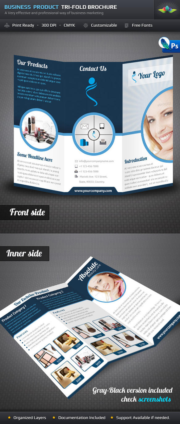 Business Product Tri Fold Brochure by Saptarang