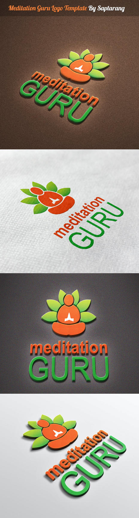 Meditation Guru Logo Template by Saptarang