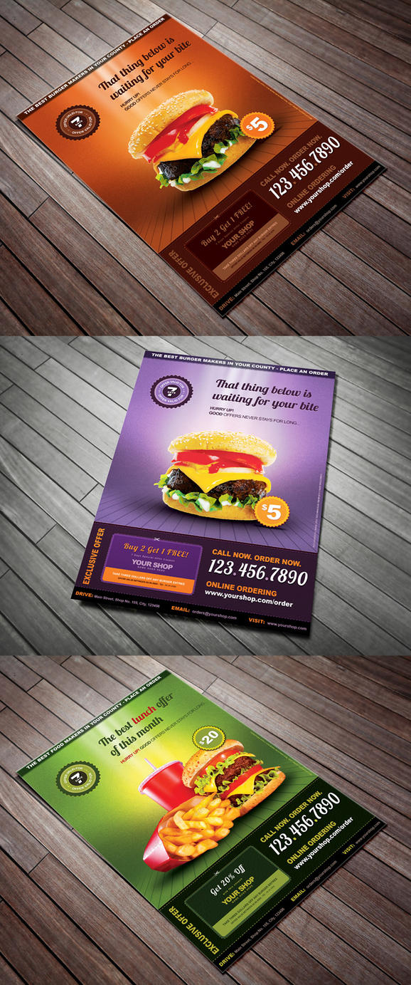 Restaurant Menu Offer Flyer by Saptarang