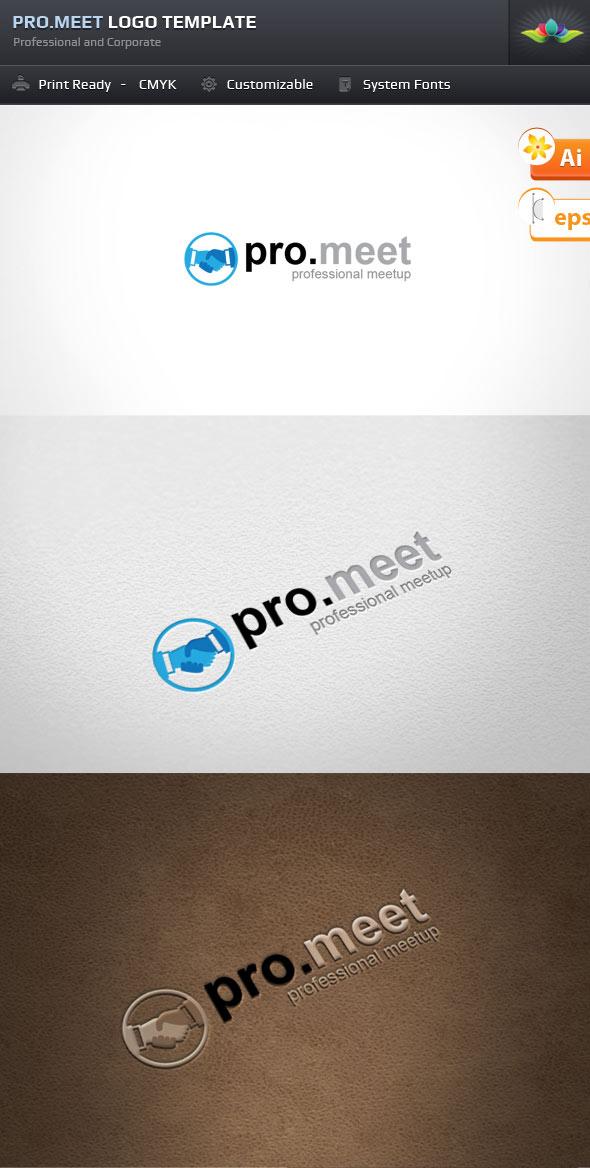 Pro Meet Logo Template by Saptarang