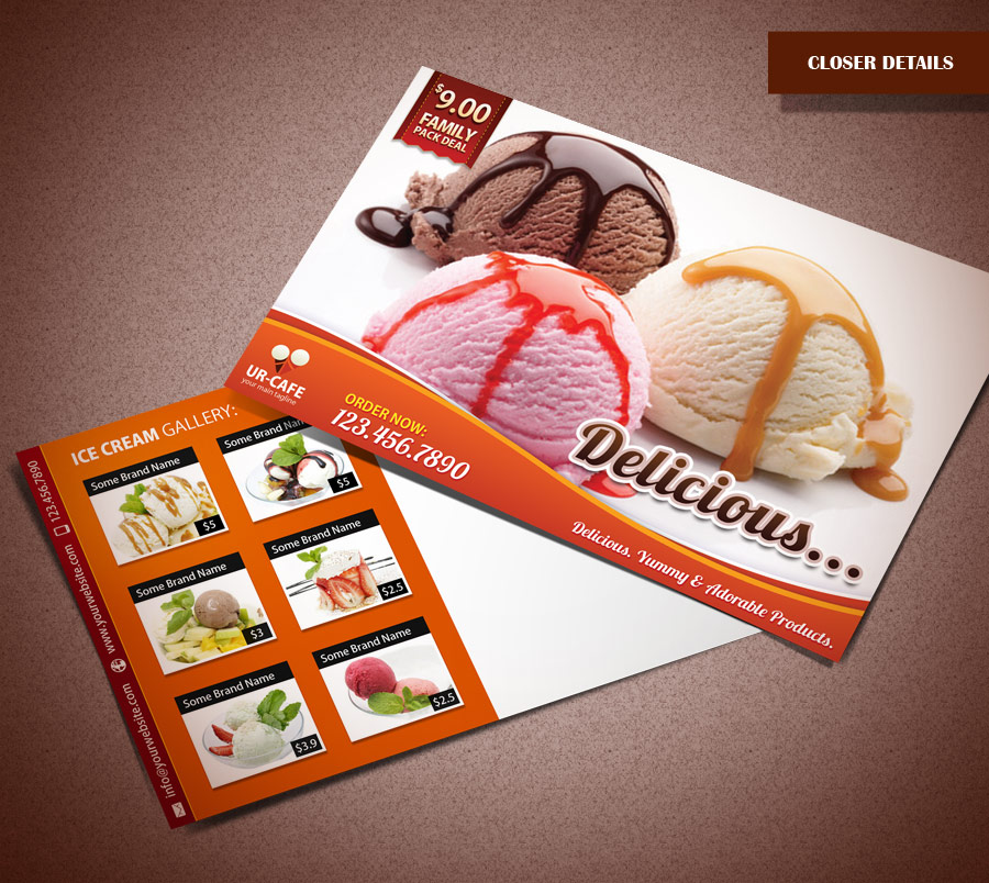 Ice Cream Shop Postcard by Saptarang