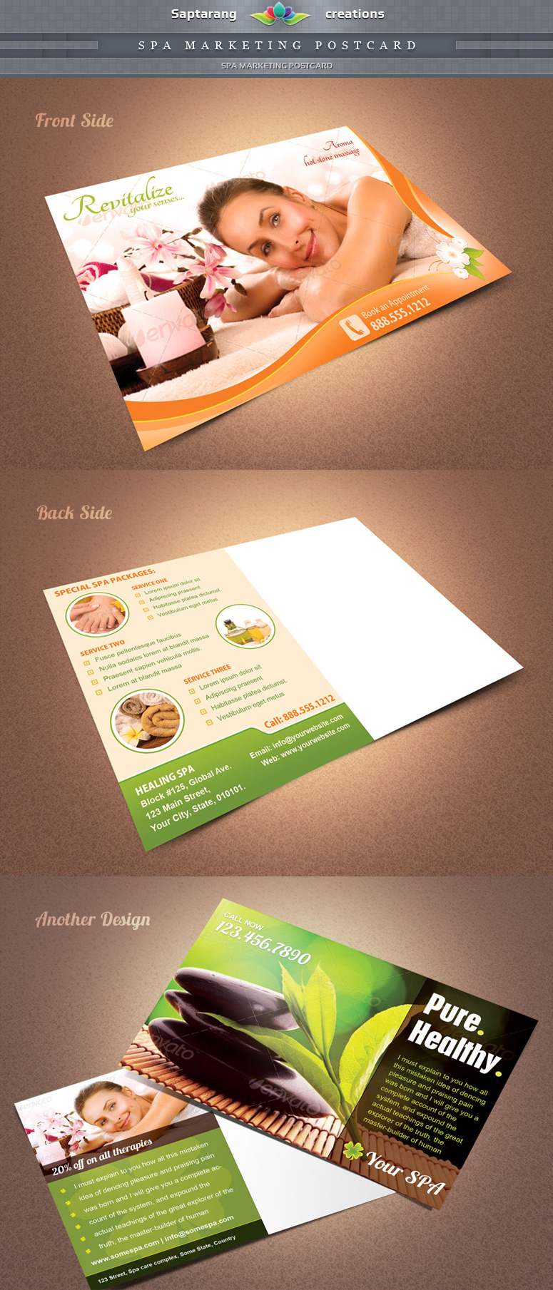 Advertising Postcard Template