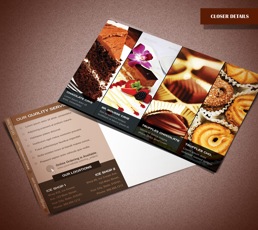 Bakery Product Postcard by Saptarang