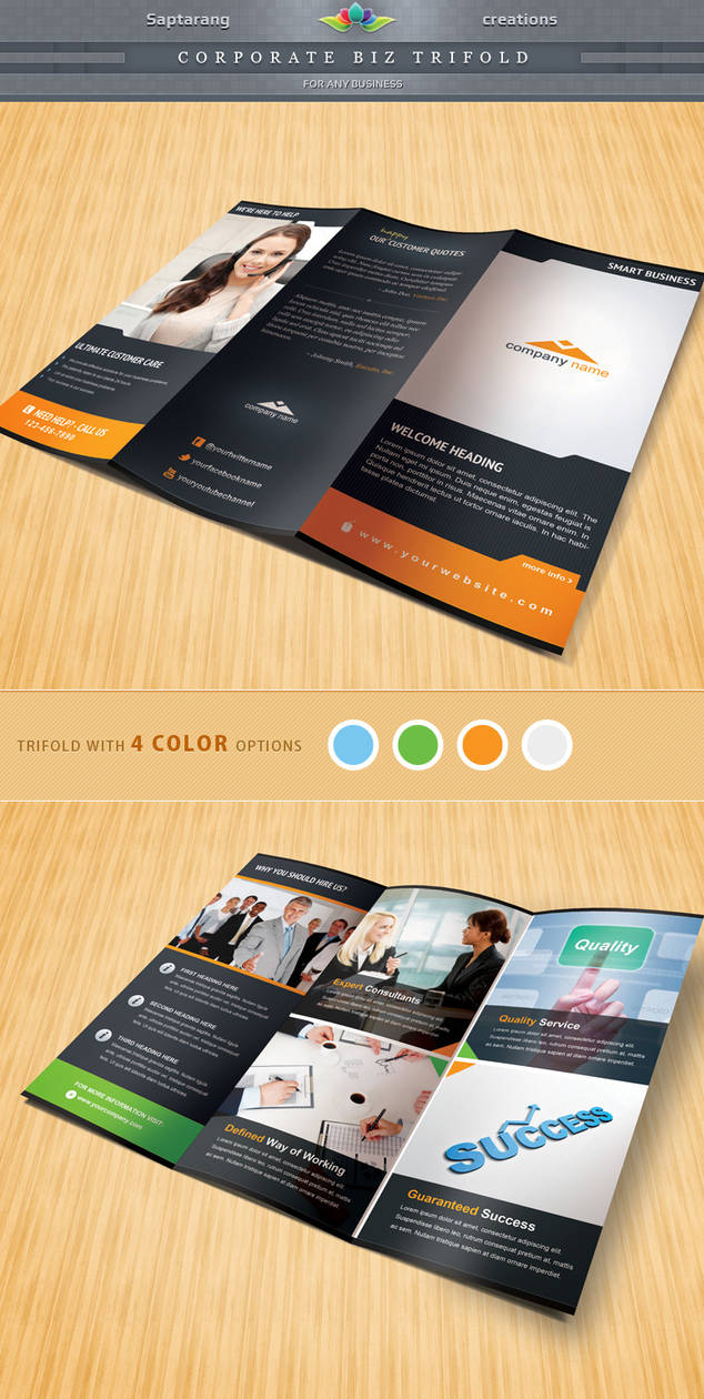 Corporate Biz Trifold by Saptarang
