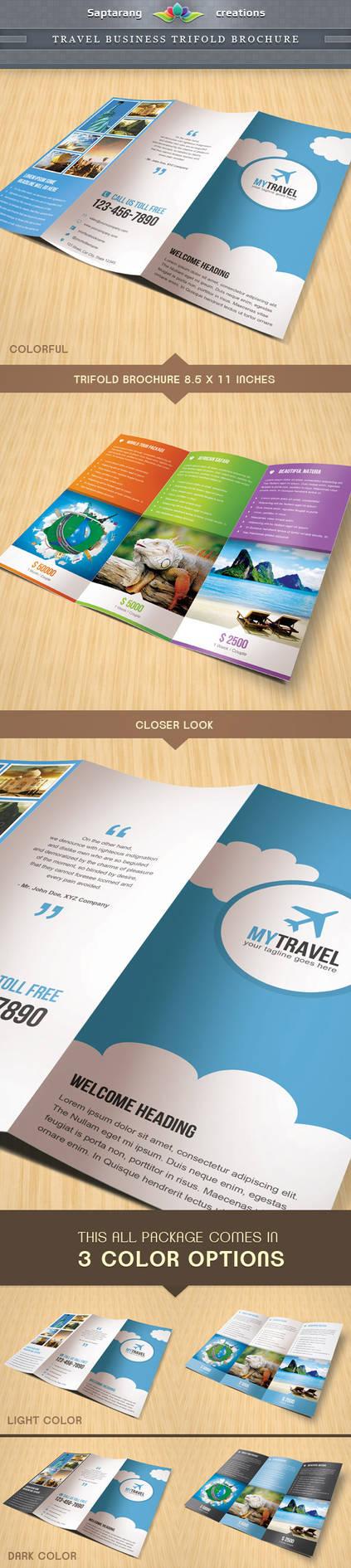 Travel Business Trifold Brochure by Saptarang