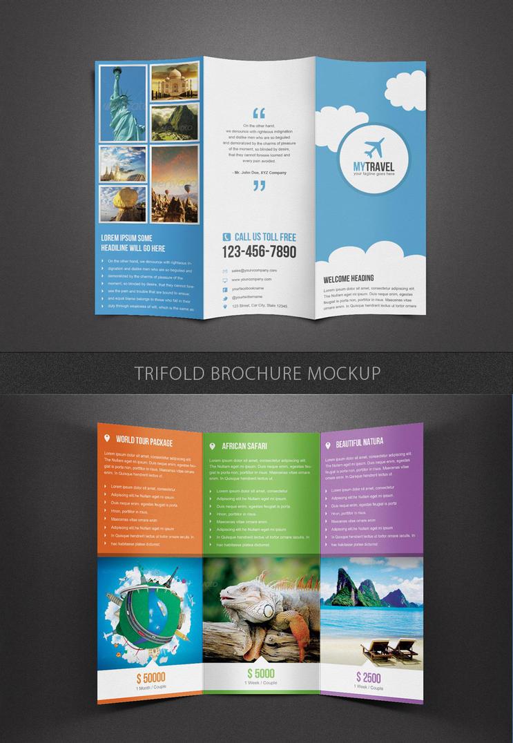 Trifold Brochure Mockup Template By Saptarang On Deviantart