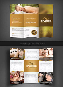 Splendid Beauty Spa / Salon Trifold Brochure