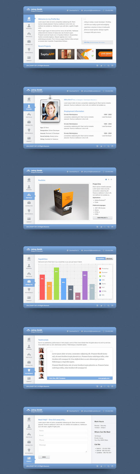 Vcard HTML5 Template by Saptarang