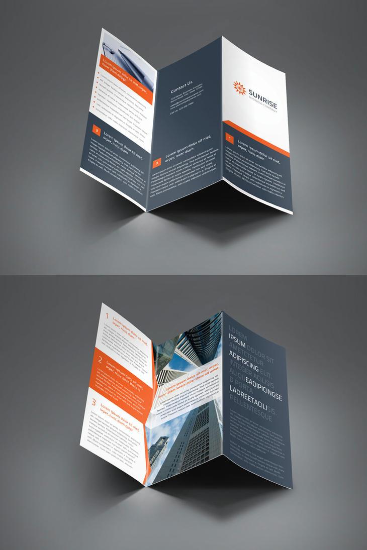sunrise corporate trifold and z fold brochure by saptarang