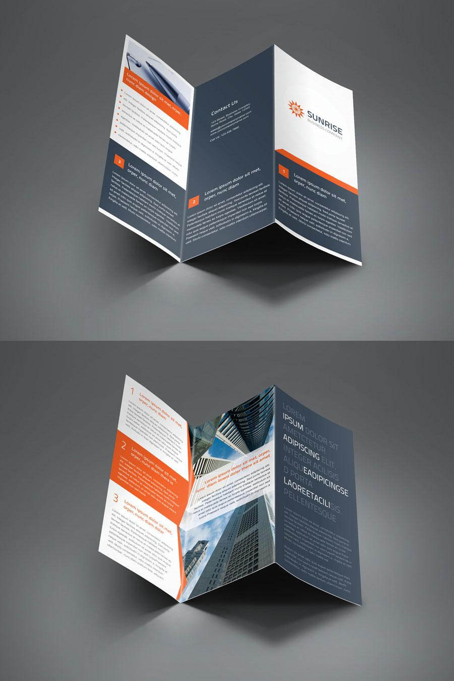 sunrise corporate trifold and z fold brochure by saptarang. Black Bedroom Furniture Sets. Home Design Ideas