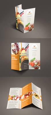 Bestaste Food Menu Trifold Brochure