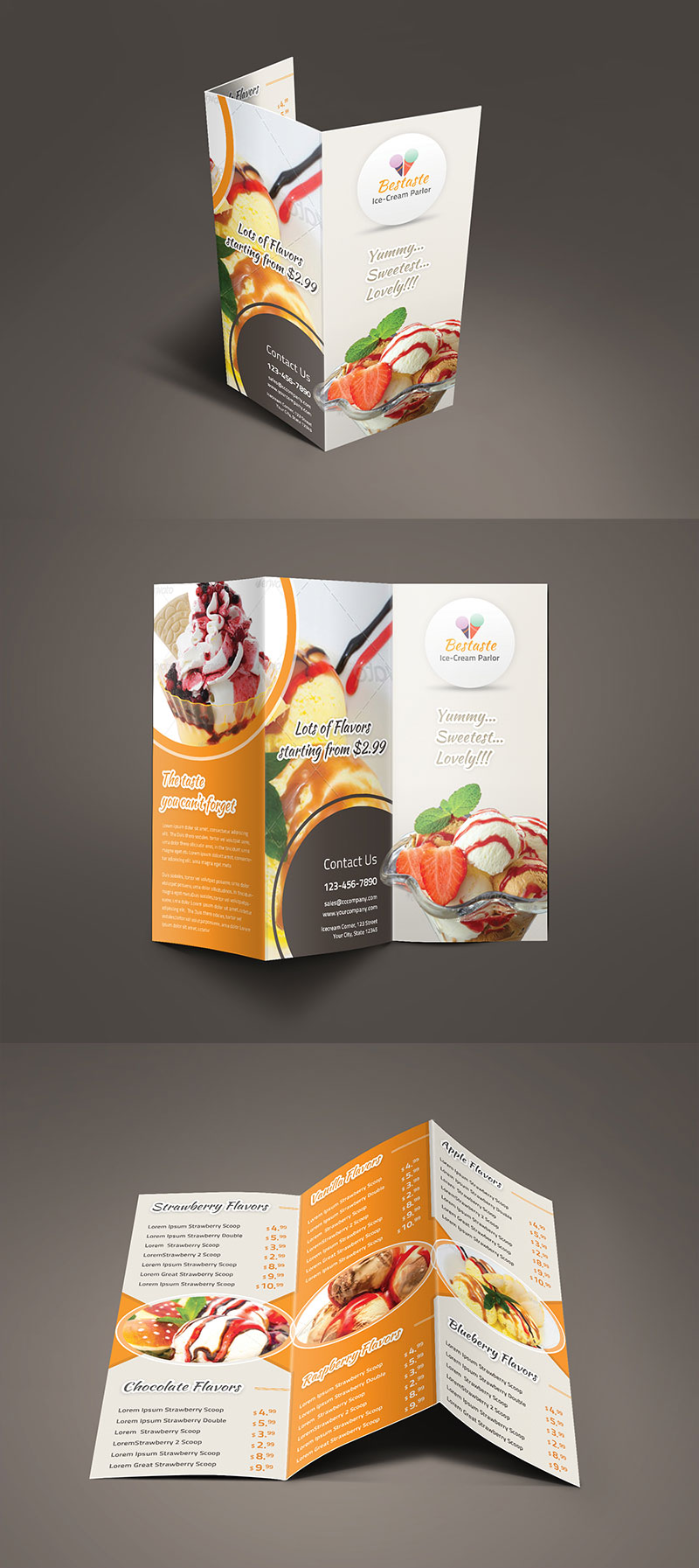 bestaste food menu trifold brochure by saptarang on deviantart