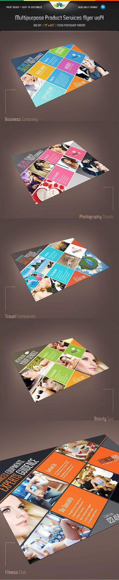 Multipurpose Product and Services Flyer Vol 4 by Saptarang