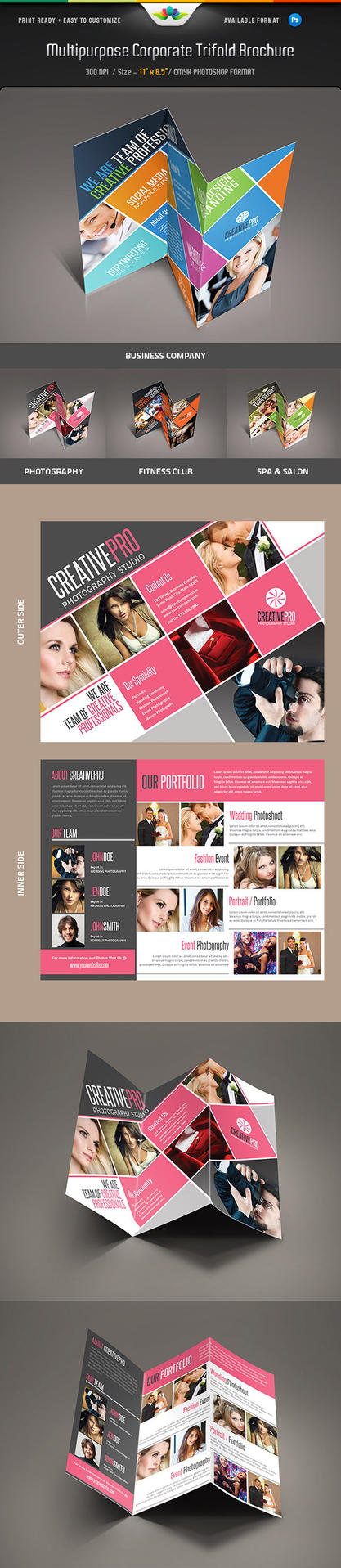 Multipurpose Corporate Trifold Brochure by Saptarang